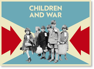 Children and War exhibition poster