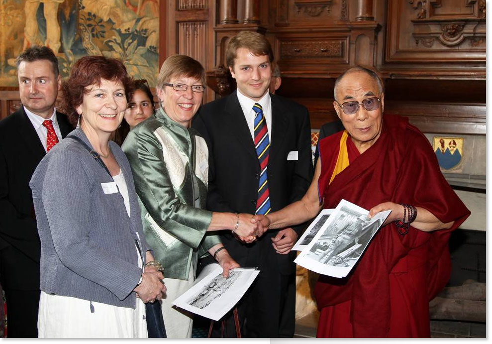 The Dalai Lama with Julie Summers