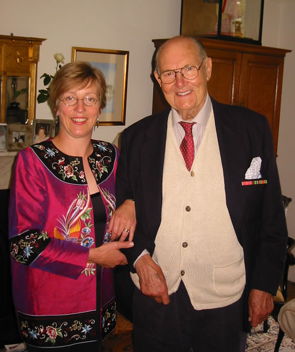 Bill Drower at the old Toosey family home in Birkenhead for the launch of The Colonel of Tamarkan in 2005