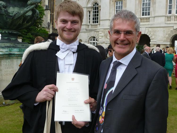 Richard Steele and his father Chris