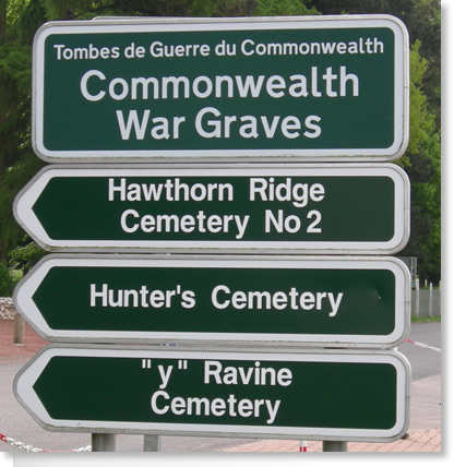 War Graves Road Signs