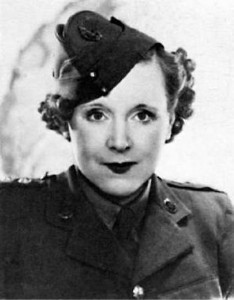Dame Barbara Cartland in ATS uniform, c. 1942