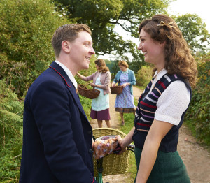 ITV STUDIOS PRESENTS HOME FIRES EPISODE 1 Pictured : DAISY BADGER as Claire Hillman and MIKE NOBLE as Spencer Bradley. Photographer: STUART WOOD This image is the copyright of ITV and must be credited. The images are for one use only and to be used in relation to Home Firs, any further charge could incur a fee.