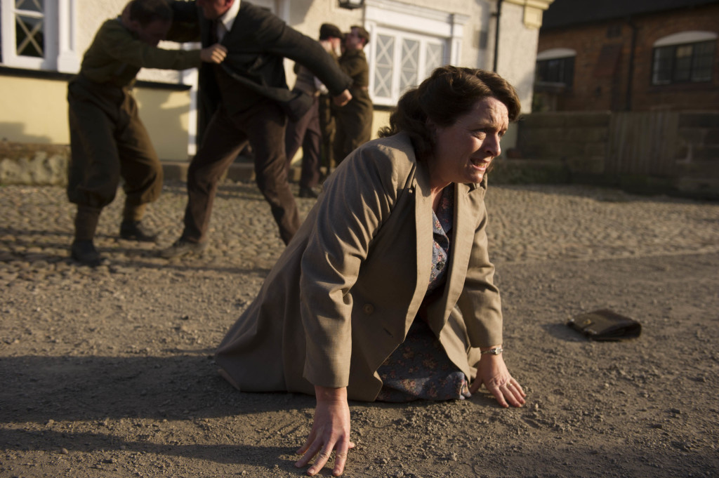 ITV STUDIOS PRESENTS HOME FIRES SERIES 2 Pictured: ALEXANDRE WILLAUME as Marek and CLAIRE RUSHBROOK as Pat. This image is the copyright of ITV and must only be used in relation to HOME FIRES SERIES 2.